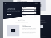 Page Wireframe for Marketing Website