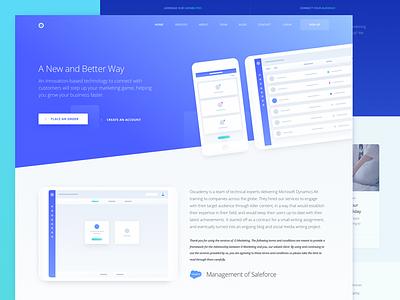 Inner Service Page Design for Marketing Website ux ui product zajno technology targeting optimization marketing platform communication analytics advertising