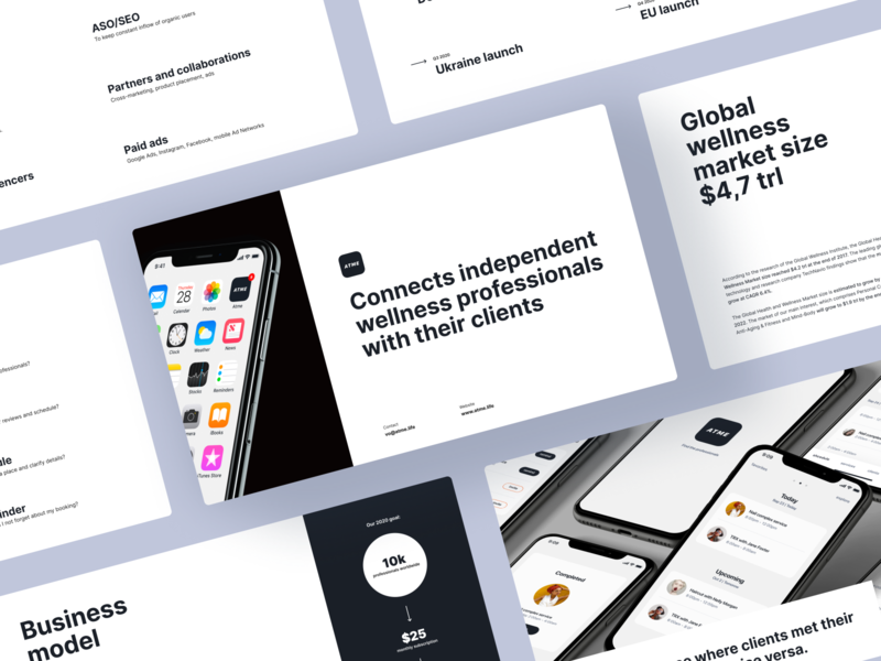 Startup Presentation Template ux mobile branding slideshow startup template presentation slides design ui