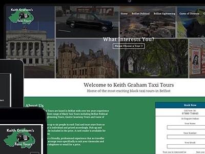 Black Taxi Tours Ni web design northern ireland web design belfast taxi tours belfast