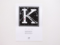 Murder Types self-publishing prints and book letter K / Knut