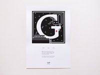 Murder Types self-publishing prints and book letter G / Gas