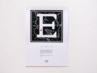 Murder Types auto edition prints and book letter E / Explosión