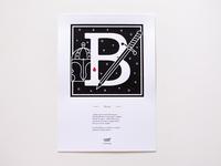 Murder Types self-publishing prints and book letter B / Blandir