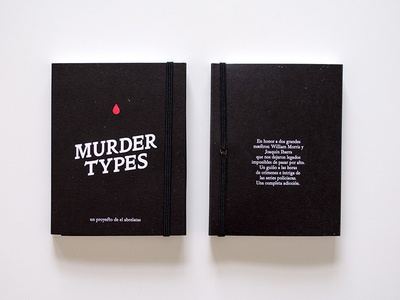 Murder Types self-publishing book cover