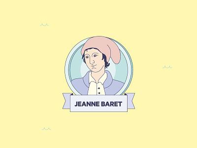 """Mares de Fauna y Flora"" infographics Jeanne Barret woman species discover science illustration design magazine infographics"