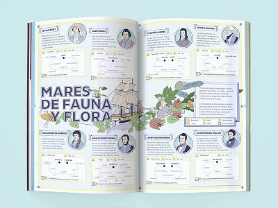"""Mares de Fauna y Flora"" infographics discover science illustration design magazine infographics"