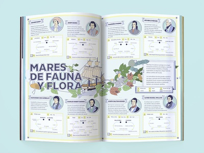 """Mares de Fauna y Flora"" infographics discover science illustration design magazine infographics"