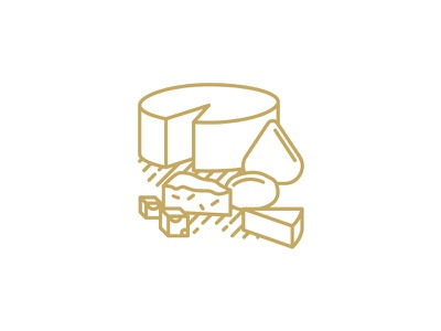 QAVA x Martín Afinador icon cheese vector illustration design logotype brand icon shop cheese lactic milk