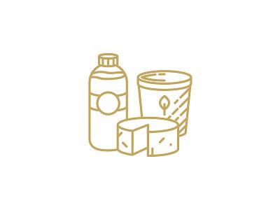 QAVA x Martín Afinador icon lactic products vector illustration design logotype brand icon shop cheese lactic milk