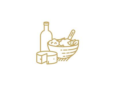 QAVA x Martín Afinador icon pairing vector illustration design logotype brand icon shop cheese lactic milk