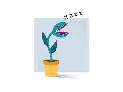 Snoozin' snooze nap sleep plant