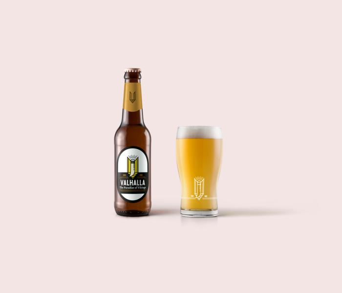 Beer label viking label bottle beer