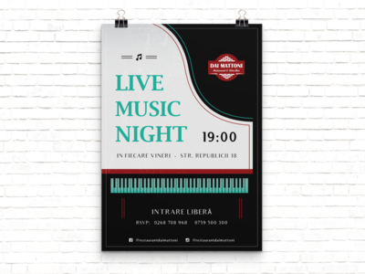 Music night print