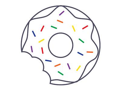 Flavors rainbow flavors colors donut