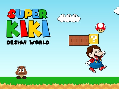 Super Kiki illustration graphic design design cv