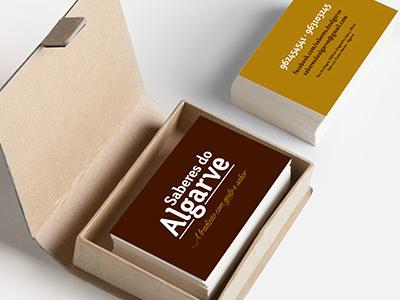 Business card Saberes do Algarve portugal branding brand business card