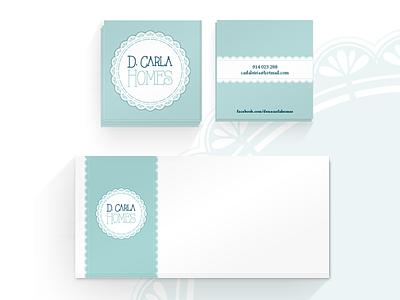 D. Carla Homes - Branding portugal business card design graphic design brand branding