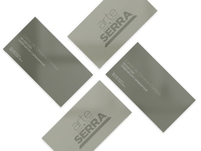 Buisness card - Arte & Serra logotype logo graphic design design portugal business card branding brand