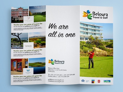 Brochure - Golf golf portugal flyer graphic design design design editorial editorial tríptico brochura brochure