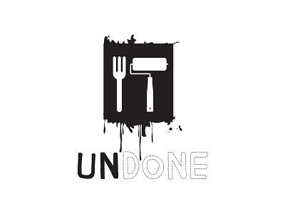 Undone  portugal graphic design design conceptual restaurant logotype logo branding brand