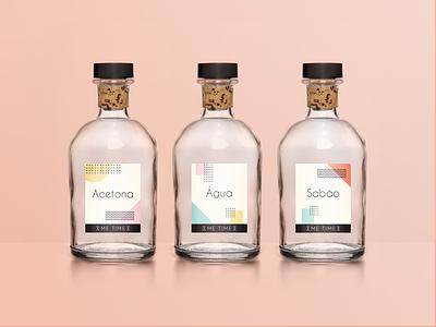 Me Time - Bottles Labels  labels portugal logotype logo label branding