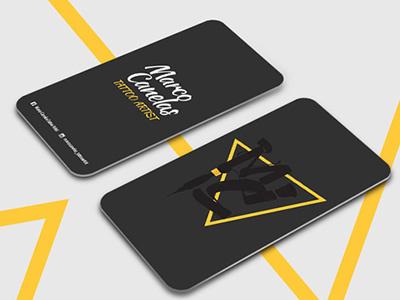 Business Card - MC Tattoo Artist branding tattoo portugal graphic design buisnesscard brand logotype logo