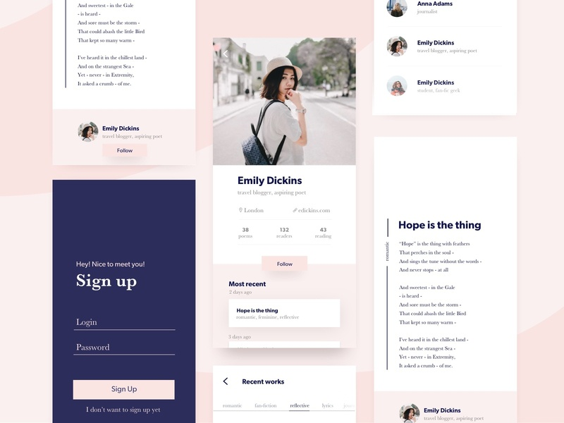 Publish your first poem! 🖋Social network for young poets. sign in signupform profile iphonex iphone poetry poet poem publication writers writer ui app