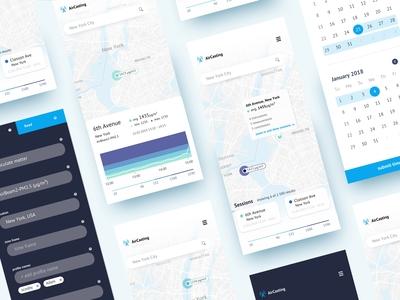 AirCasting - environmental data monitoring mobile views