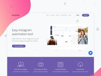 Landing page exploration for Picpost