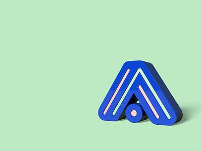 Triangirls logo 3D render cinema4d 3d artist 3d