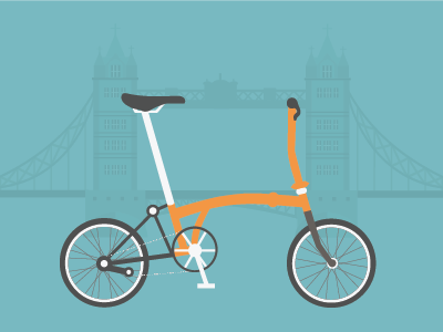 Cycle to work scheme brompton london wip illustration vector