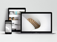 Responsive web design for architects' studio