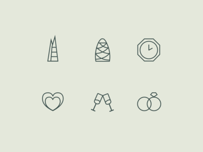 Icons for my wedding outline icons wedding icons wedding icons