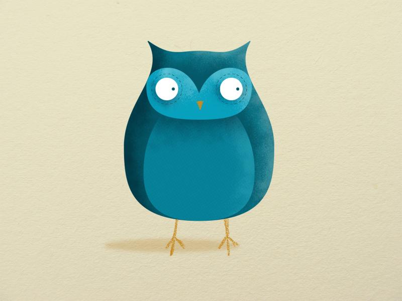 Sebastian the Owl birds bird textured illustration illustration 2d owl