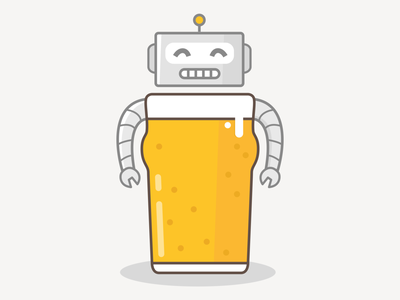 BeerBot beer character illustration
