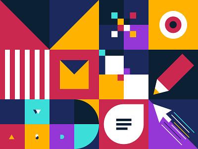 re.MX square geometric colours minimal mx logitech