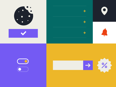 Popup Websites - cover palette colors design adobe xd icons minimal