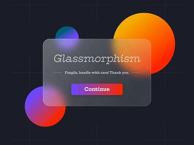 Fragile Glassmorphism - 202X Design Trends experiment glass glassmorphism minimal ux ui trend colourful prototype adobe xd animation