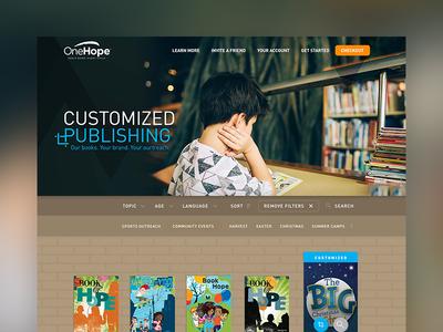 OneHope Books of Hope book minimal publish customization bookshelf din platform publishing onehope