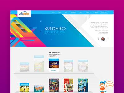 OneHope Books of Hope 2.0 book minimal publish customization bookshelf din platform publishing onehope