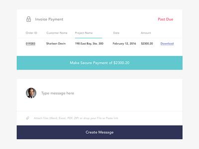 Invoice & Discussion payments social network communication portal urban electric clean minimal avenir dashboard admin ux ui