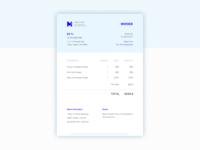 Daily UI #46 Invoice