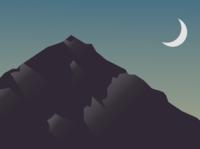 mountain inkscape illustration flat