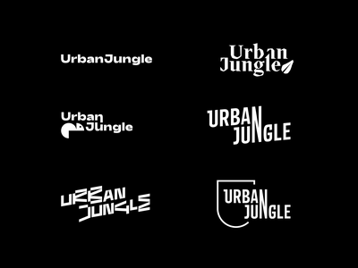 Urban Jungle Logo Exploration exploration brand design brand identity icon colorful animation typography playful colourful branding logo illustration jbdotco fortnight