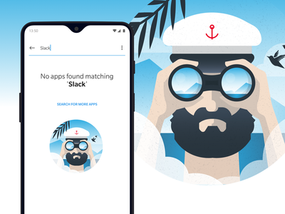 OnePlus 6T android 6t error search ux ui app flat texture jbdotco fffabs fortnight illustration os oneplus