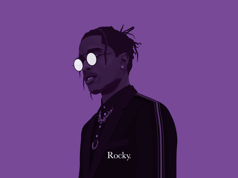 A$AP Rocky hip hop character typography vector flat colourful colorful playful illustration jbdotco fortnight fffabs