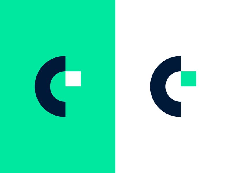 CreditLogic Logo minimal brand identity fintech c green logo design colourful branding logo web ux ui illustration jbdotco fortnight fffabs