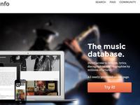 Musicinfo landing page