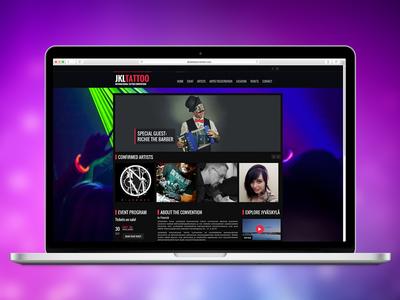 JKL Tattoo web design wordpress user experience ux responsive web design site website